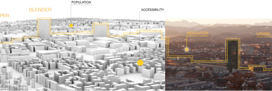 The weekly course Visualize ComplexCity investigates the use of parametric modeling methods in Grasshopper coupled with the visualization/animation methods provided by Blender 3D in application to urban design challenges. Fridays 13:00-16:00 |4 ETCS | 051-0725-12L | PDF